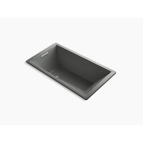 "Thunder Grey 66"" X 36"" Drop-in Vibracoustic Bath With Reversible Drain"