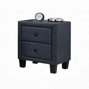 ACME Saveria Nightstand - 25663 - 2-Tone Gray PU