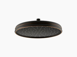 "Oil-rubbed Bronze 12"" Traditional Round 2.5 Gpm Rainhead With Katalyst Air-induction Technology Product Image"