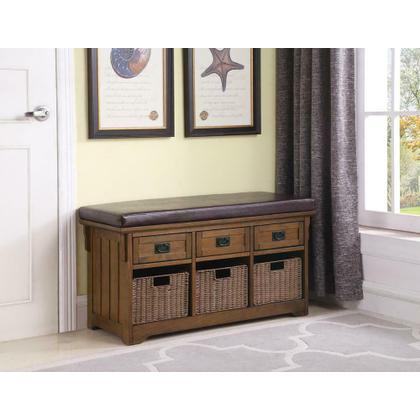 See Details - Traditional Medium Brown Bench