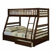 ACME Jason Twin/Full Bunk Bed & Drawers - 02020 - Espresso Product Image