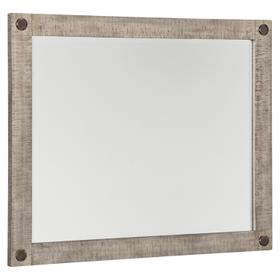 Naydell Bedroom Mirror Rustic Gray