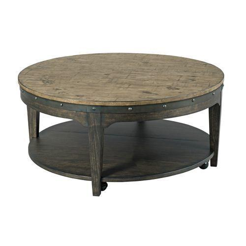 Plank Road Artisans Round Cocktail Table