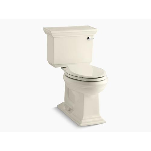 Almond Two-piece Elongated 1.28 Gpf Chair Height Toilet With Right-hand Trip Lever