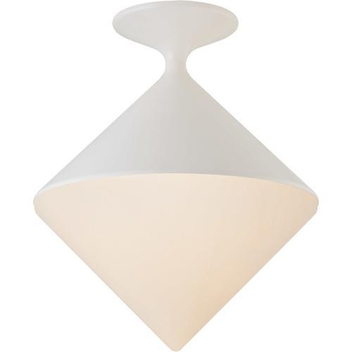 AERIN Sarnen LED 14 inch Matte White Flush Mount Ceiling Light, Small