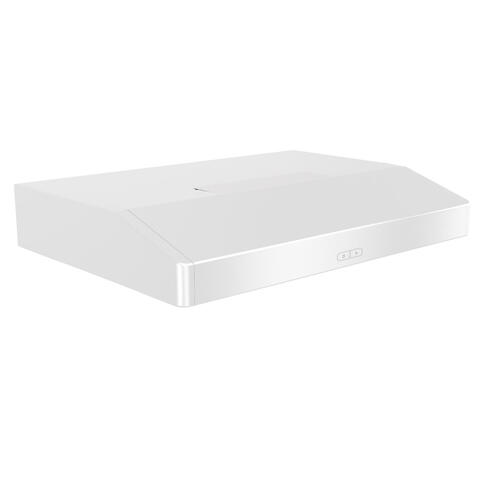 Broan - Broan® Elite 36-Inch Convertible Under-Cabinet Range Hood, White