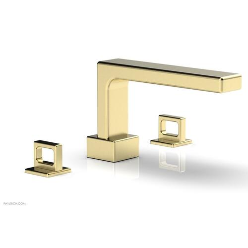 MIX Deck Tub Set - Ring Handles 290-42 - Polished Brass Uncoated