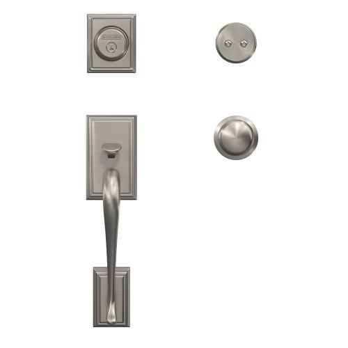 Custom Addison Inactive Handleset with Plymouth Knob and Kinsler Trim - Satin Nickel