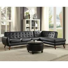 ACME Essick II Sectional Sofa - 53040 - Black PU