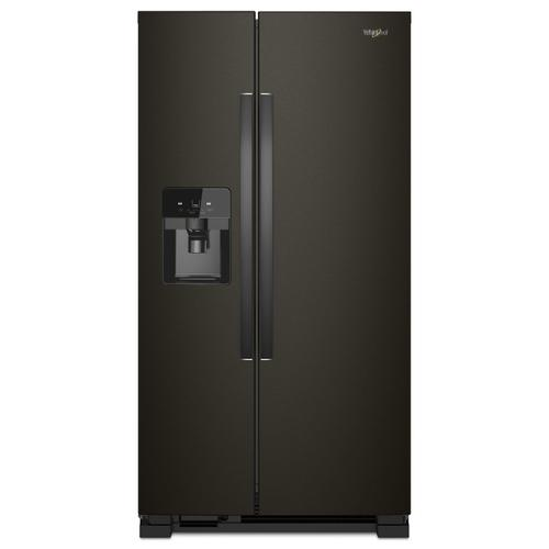 Whirlpool - 36-inch Wide Side-by-Side Refrigerator - 25 cu. ft. Black Stainless