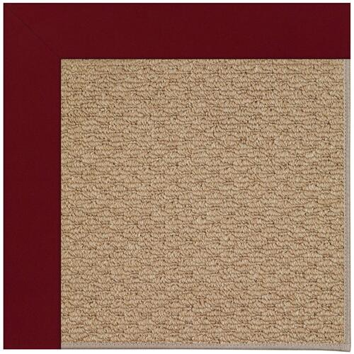 Creative Concepts-Raffia Canvas Burgundy Machine Tufted Rugs