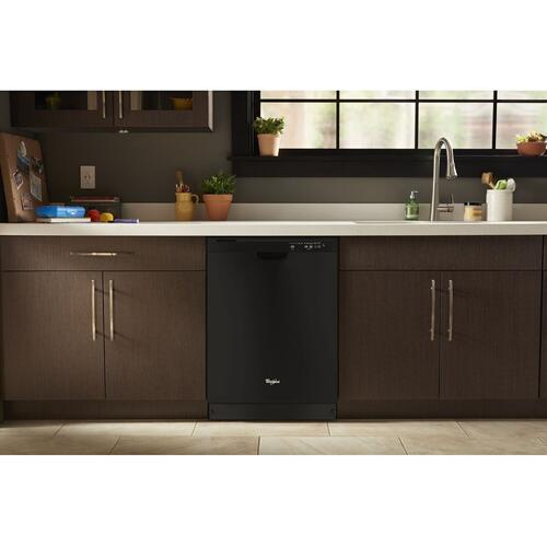 Whirlpool - ENERGY STAR® certified dishwasher with Sensor cycle Black