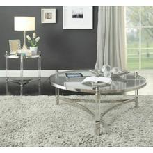 ACME Peony Coffee Table - 80170 - Clear Acrylic - Stainless Steel & Clear Glass