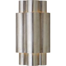 View Product - AERIN Arabelle 2 Light 8 inch Burnished Silver Leaf Sconce Wall Light, Medium