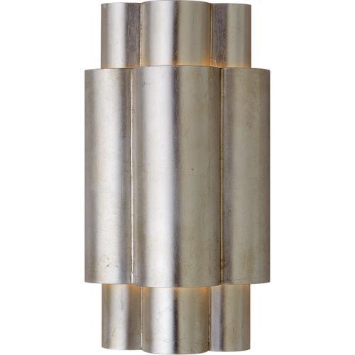Visual Comfort - AERIN Arabelle 2 Light 8 inch Burnished Silver Leaf Sconce Wall Light, Medium