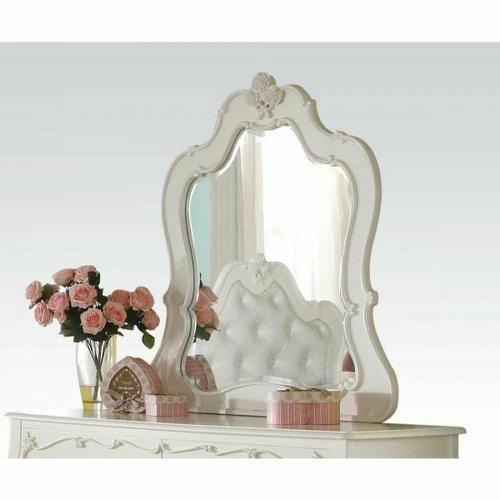 ACME Edalene Mirror - 30513 - Pearl White