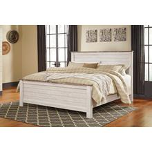Willowton - Whitewash 3 Piece Bed (King)