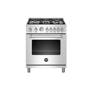 "Bertazzoni30"" Master Series range - Gas oven - 5 aluminum burners - LP version"