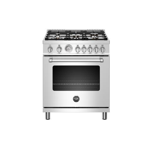 "Bertazzoni - 30"" Master Series range - Gas oven - 5 aluminum burners - LP version"