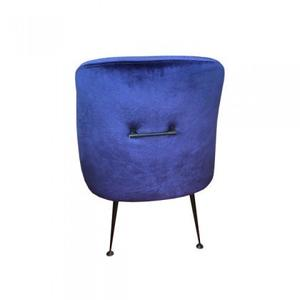 Arca Chair Cobalt Blue/100%Polyester+Metal Legs/Cobalt Blue+Matte Black/25*23*35
