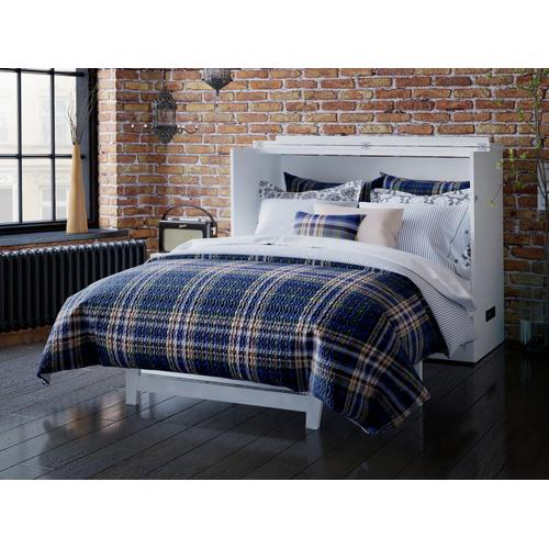 Atlantic Furniture - Deerfield Murphy Bed Chest Full White with Charging Station