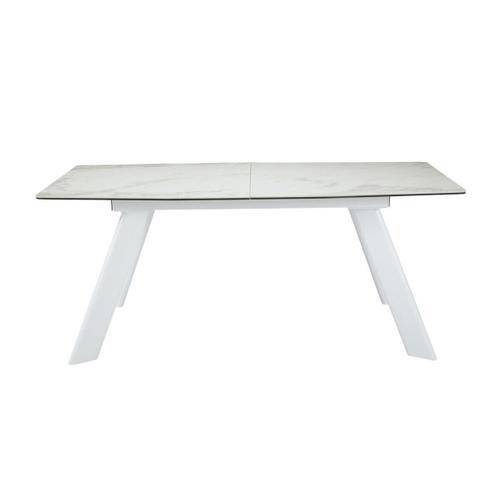 Gallery - Modrest Decker Modern Extendable Ceramic & White Dining Table