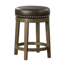 See Details - Round Swivel Counter Height Stool, Brown