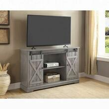 ACME Agustin TV Stand - 91626 - Farmhouse - Wood (Pine), MDF, Metal - Gray Oak