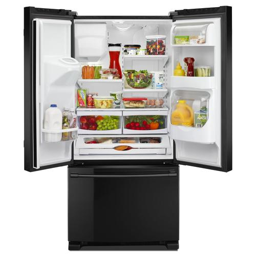 Gallery - 33- Inch Wide French Door Refrigerator with Beverage Chiller™ Compartment - 22 Cu. Ft. Black
