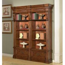 See Details - GRAND MANOR GRANADA 2 piece Museum Bookcase (9030 and 9031)