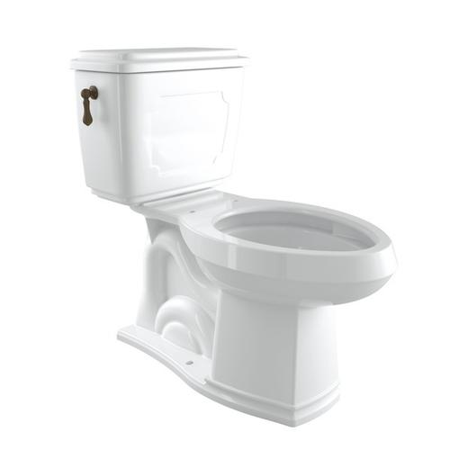 English Bronze Perrin & Rowe Victorian Elongated Close Coupled 1.28 Gpf High Efficiency Water Closet/Toilet