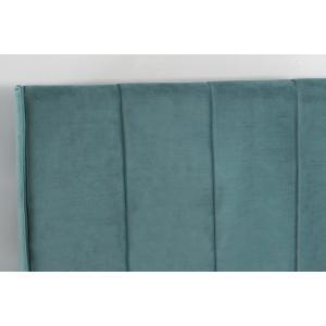 Aussie Queen Platform Bed - Teal Velvet