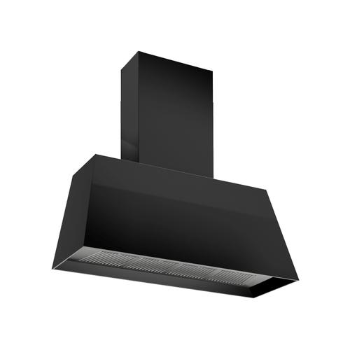 48'' Contemporary Canopy Hood, 1 motor 600 CFM Matt Black