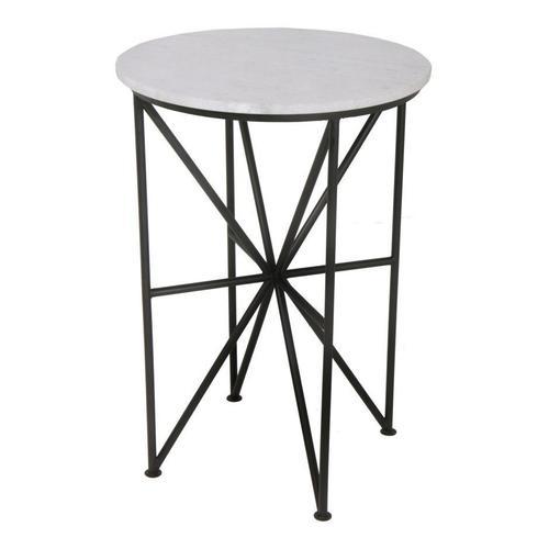 Quadrant Marble Accent Table