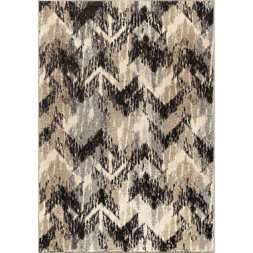 "4303 8x11 Distressed Chevron Grey 7'10"" x 10'10"" American Heritage"