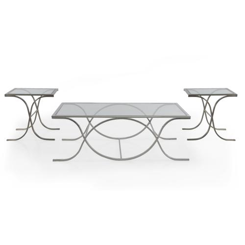 Decor-rest - DNA Glass SILVER Side Table Box1 of 2