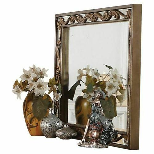 ACME Orianne Mirror - 23794 - Antique Gold