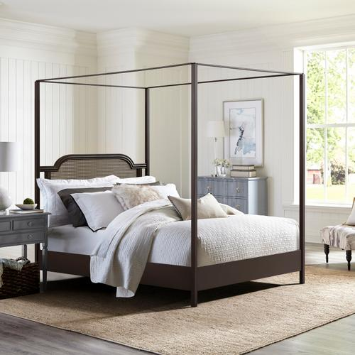 Hillsdale Furniture - Melanie Wood and Metal Queen Canopy Bed, Oiled Bronze