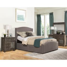Kerstein Adjustable Cal King Storage Bed Set - Orly Gray