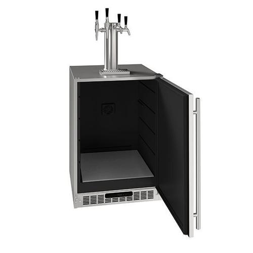 "24"" 4 Tap Beer, Coffee, & Wine Dispenser With Stainless Solid Finish (115 V/60 Hz Volts /60 Hz Hz)"