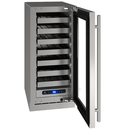 """Gallery - Hwc515 15"""" Wine Refrigerator With Stainless Frame Finish and Left-hand Hinge Door Swing (115 V/60 Hz Volts /60 Hz Hz)"""