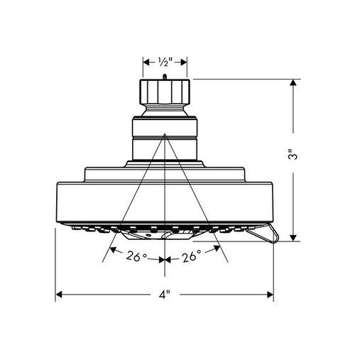 Chrome Showerhead 100 3-Jet, 2.0 GPM