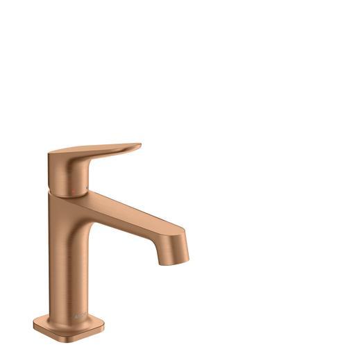 Brushed Bronze Single lever basin mixer 100 with waste set