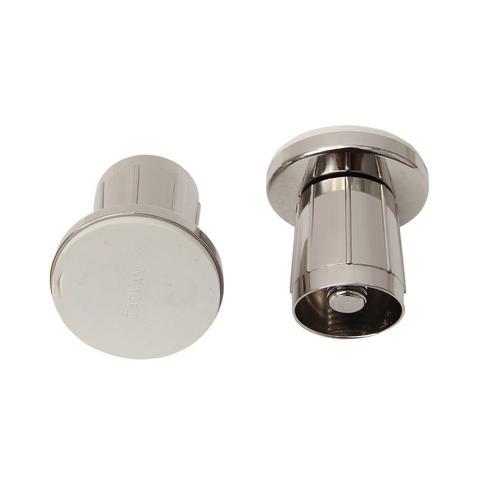 """1"""" Zinc Adjustable Shower Rod Flange - Polished Nickel"""