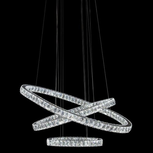 Amini - Asteroids LED Chandelier Oval Rings
