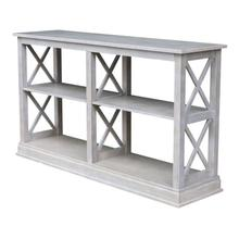 Hampton Long Sofa Table in Taupe Gray