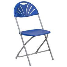 650 lb. Capacity Plastic Fan Back Folding Chair