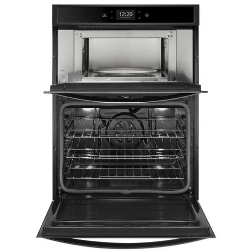 Whirlpool - 6.4 cu. ft. Smart Combination Wall Oven with Touchscreen Black