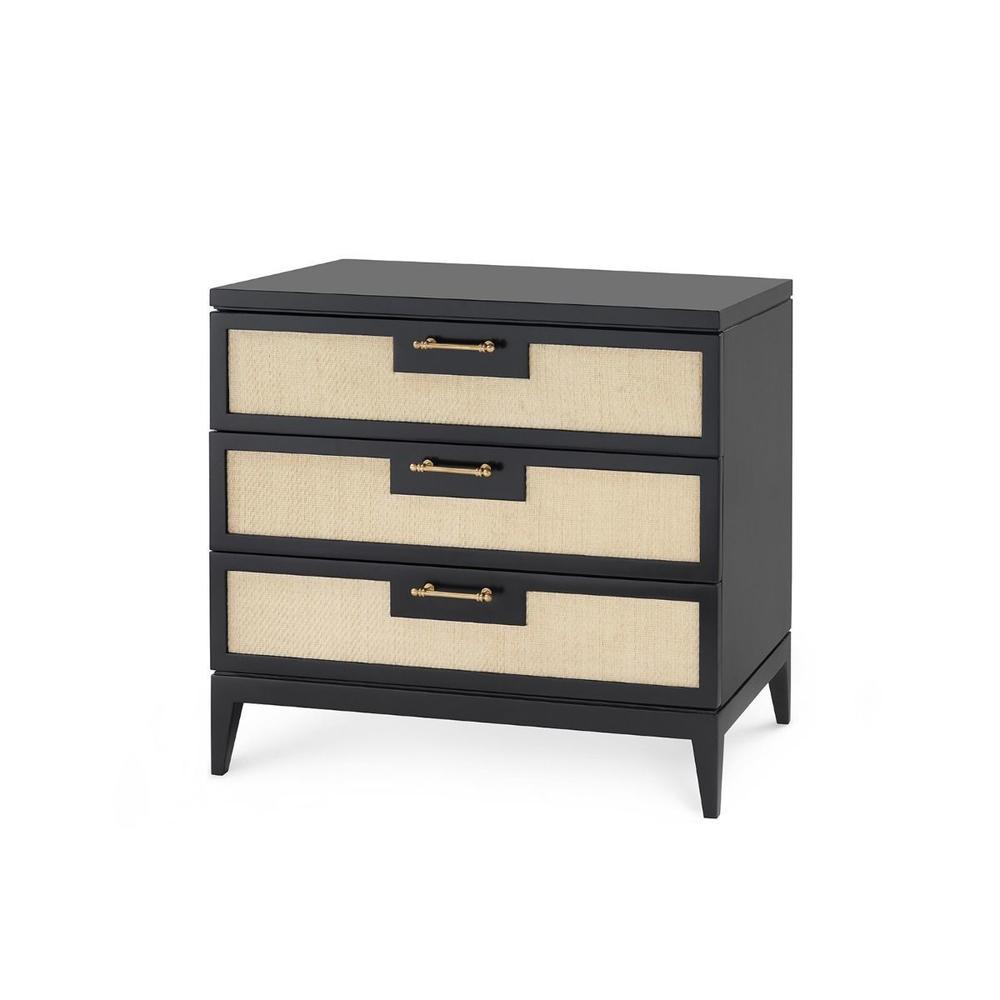 See Details - Astor 3-Drawer Side Table, Black
