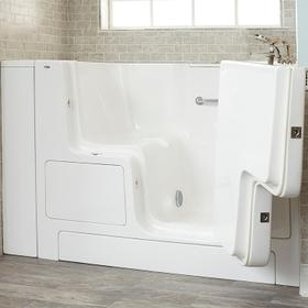 Gelcoat Premium Series 32x52 Walk-in Tub with Outward Opening Door, Left Drain  American Standard - White